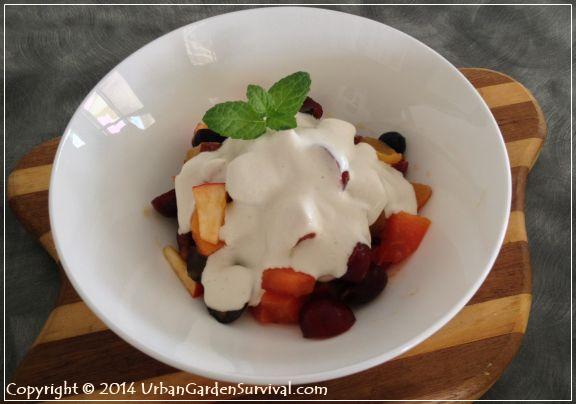 Summer Fruit Salad with Cashew Cream